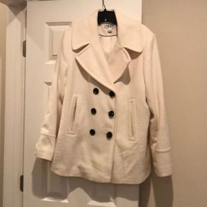 Double breasted wool jacket plus sized